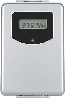 Trådlös väderstation, termometer, hygrometer och väderprognos med stor LCD-skärm Lätt att läsa Utetemperatur väckarklocka ...