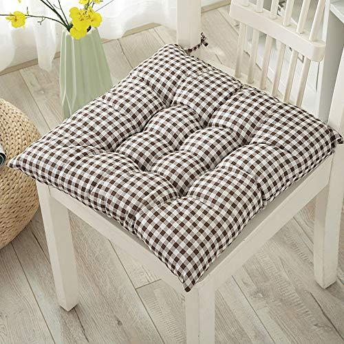 FeiliandaJJ Stuhl Sitzkissen Tatami Baumwolle Weich Padded 40x40cm Stuhlkissen Auflage Sitzauflage Büro Boden Balkon Garten Auto Kissen Chair Cushion (E)