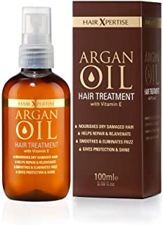 Hair Xpertise Moroccan Argan Oil- Treatment For Damaged Hair | Nourishes And Moisturises Dry Hair | Repairs, Smoothes And Brings Life To Your Hair! - For All Hair Types (100ml)