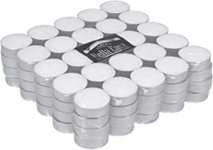 Bella Casa Candle Tea Lights (4hrs) White 100 Pieces Set