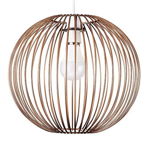 Lampenschirm für Hängelampe, Retro-Stil, Metall, kugelförmig Lampenschirm mit Kupfer-Effekt.