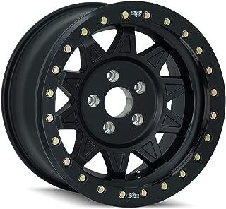DIRTY LIFE ROADKILL (9302) MATTE BLACK/BLACK BEADLOCK: 17x9 Wheel Size; 8-170 Lug Pattern, 130.8mm Bore, 14mm Offset.