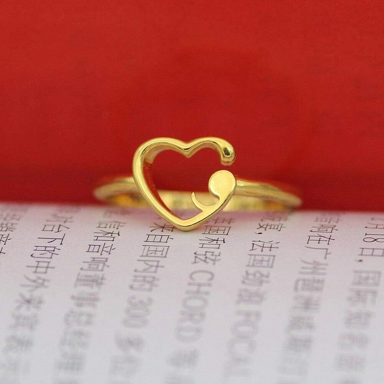 性能調和のとれた千FidgetGear 925スターリングシルバーセミコロンリング婚約結婚式ファッション女性ジュエリー ゴールド