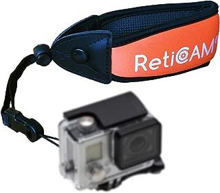 RETICAM Floating Wrist Strap for GoPro and Waterproof Cameras - Premium Float for Underwater Devices - WS10, Neoprene/Foam, Orange