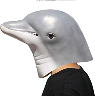 PartyHop - Dolphin Mask - Halloween Party Latex Sea Animal Mask