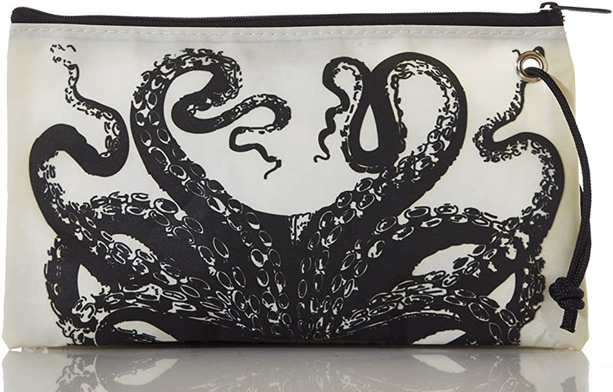 Sea Bags Recycled Sail Cloth Octopus Wristlet Large