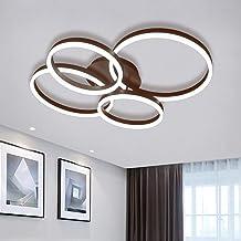 Ganeed 90W LED Ceiling Light 6000K,Modern Acrylic Surface Mount Chandeliers,2+2 Rings Modern Flush Mount Ceiling Light for...