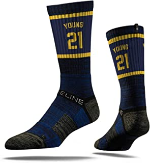 NBA Indiana Pacers Strideline Player Crew Socks , Thaddeus Young , Thaddeus Young