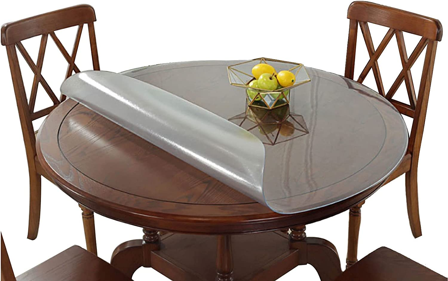 DTDMY Round Challenge the lowest price of Japan ☆ Clear PVC Tablecover Plastic Waterproof Cloth overseas Table