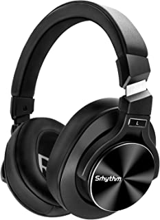 Noise Cancelling Headphones Bluetooth V5.0 Wireless,40Hours Playtime Headsets Over Ear with Microphones&Fast Charge,Srhyth...