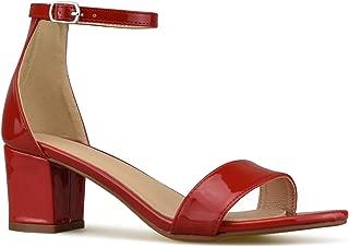 Women's Strappy Open Toe Block Heel Sandal