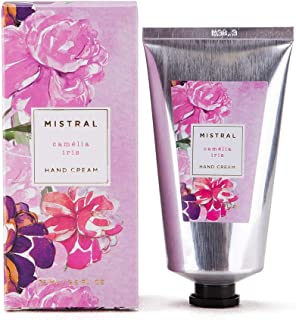 Mistral Luxury Hand Cream Organic Shea Butter - Camelia Iris - Made in France, 2.5 oz