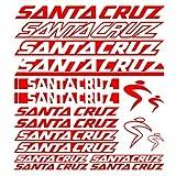 For Santa Cruz Bicycle Frame Vinyl Graphic sticker Kit car styling body Decorative Decals Sticker Set Bike Accessories (MOUNTAIN Cycling, MTB,BMX,Race Road,BIKE) (RED)