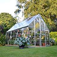 Palram 8 x 12ft Balance Silver Greenhouse with Polycarbonate Panels and Twinwall on Roof - Clear