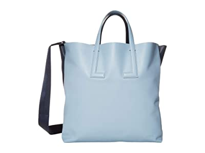 Lacoste Fashion Show Tote Bag (Cement/Light Blue/Clay) Tote Handbags