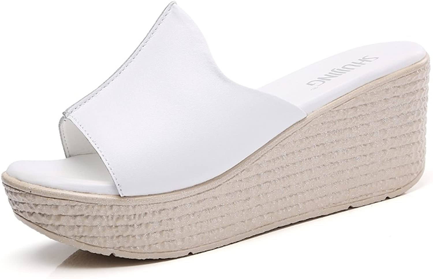 MET RXL Lady,Summer Sandals and Slippers Wedges,Thick-Soled,Fish Mouth Slippers Casual Drag