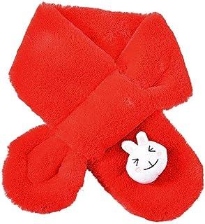 Amaone Children Scarf Girls Boys 2-8Years Old Winter Warm Soft Thickening Cute Rabbit Shawls Scarves Collar 80Cm X12Cm