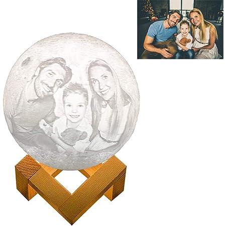 Lutilo Lámpara De Luna De Fotos Personalizada Con Impresión 3d 2 Colores Intensidad Regulable Y Recargable Con Soporte El Mejor Regalo Para Tu Familia O Amigo Moderno 6 Pulgadas Baby