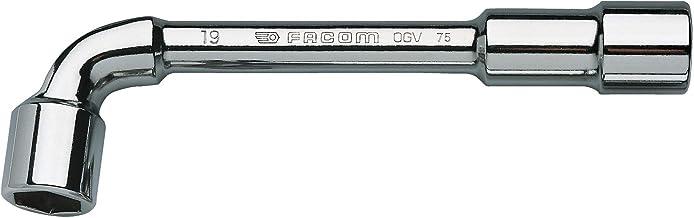 FACOM 75.19 serie 75 gesmede metrische 6 x 6 puntsschuin open-dopsleutelsleutel, 19 mm grootte