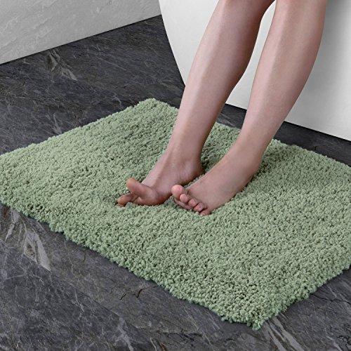 Norcho Tappeto Bagno Antiscivolo In Microfibra Morbido tappetino doccia Lusso Antibatterici Per Salotto Bagno Camera Lavabile In Lavatrice (Verde 70x45x4cm)