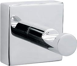 tesa® Hukk handdoekhaakje, hoogglans verchroomd metaal, zelfklevend, 39 mm x 39 mm x 52 mm