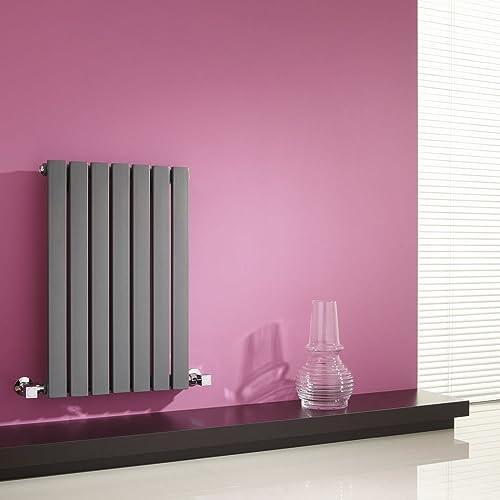 Milano Radiador de Diseño Horizontal - Antracita - 635mm x 420mm x 54mm - 420 Vatios
