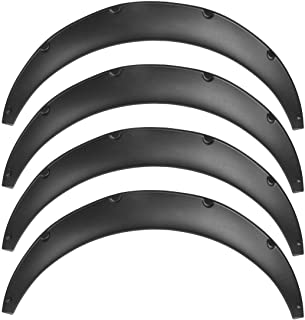 Auto-onderdelen 4 stuks Universal flexibele auto Compatible with Fender Flares Extra Wide Body Bogen van het Wiel spatbord...