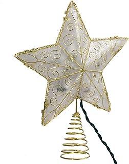 Kurt Adler 10 Light 8.5-Inch Gold Reflector Star Treetop