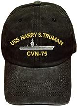 USS Harry S. Truman CVN-75 Ship Military 100% Wash Cotton Hat Black
