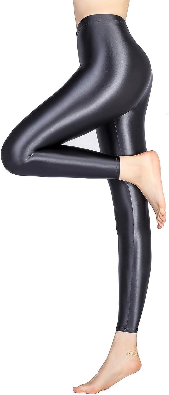 LEOHEX Satin Glossy Opaque Same day shipping Pantyhose Stockings Sexy Shiny Jacksonville Mall L Yoga