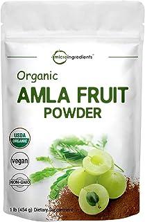 Organic Amla Powder (Amalaki),1 Pound (16 Ounce), Natural Vitamin C, Antioxidant and Flavonoids, Strongly Supports Immune ...