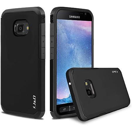 J&D Compatible para Samsung Galaxy Xcover 4/Samsung Galaxy Xcover 4S Funda, [Armadura Delgada] [Doble Capa] [Protección Pesada] Híbrida Resistente Funda Protectora y Robusta para - Negro