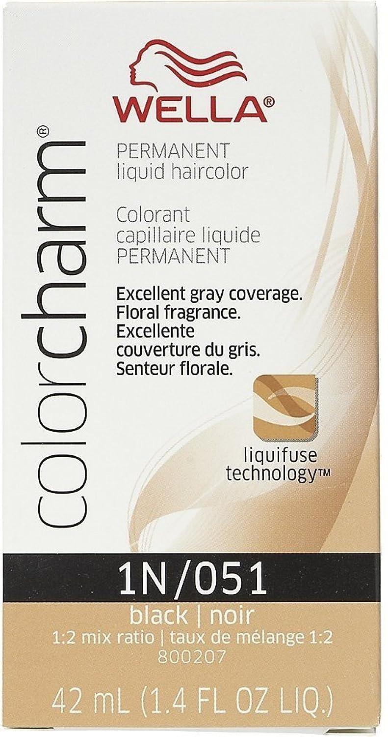 安心送信するうねるWella Color Charm Liquid Haircolor 1n/51 Black, 1.4 oz by Wella