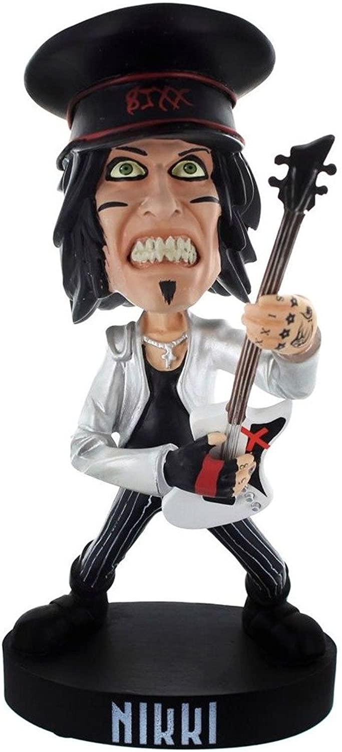 Motley Crue 8.5  Resin Bobblehead Statue  Nikki Sixx with Hat  Toynk Toys Exclusive