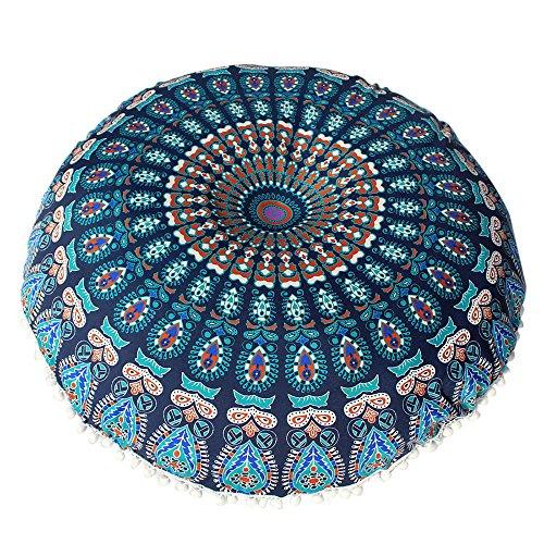VJGOAL Large Mandala Floor Pillows Round Bohemia impresión Meditación Cojín...