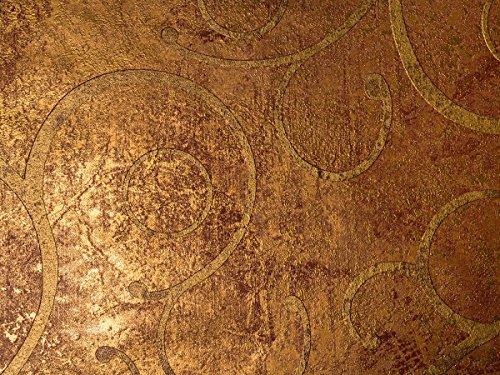 Tapete Gold Metallic Braun - Ornamental - La Veneziana II von marburg - für Schlafzimmer oder Wohnzimmer - Made in Germany Desing - Premium 77724