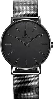Alienwork IK Slim Ø36mm Reloj Hombre Mujer Ultra-Delgada Banda de Malla