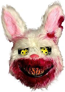 Halloween Maske, Plüsch Verdammter Hase Maske, Gruseliges Gesicht Horror Masken Halloween Kostüm Realistische Blutige Simu...