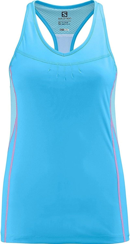 Salomon Start Impact Tank  Women's Score bluee   Clearwater bluee Medium