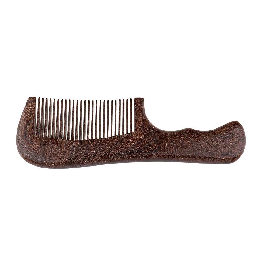 ズーム宗教的な銅P Prettyia 帯電防止櫛 ウッドコーム 木製櫛 ハンドヘルドくし 頭皮マッサージ 2仕様選べ - 細かい歯