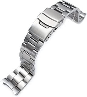 22mm Super 3D Oyster Watch Bracelet for Seiko Diver SKX007 SKX009 Curved End