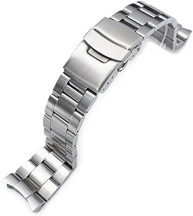 66efa740e67 22mm Super 3D Oyster Watch Bracelet for Seiko Diver SKX007 SKX009 7002  Curved End