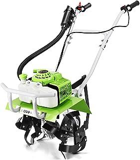 QILIN Gasoline Tiller, Multi-function Tillage Machine, 68cc Two-stroke Engine, Adjustable Tillage Depth 20-25CM, Tillage W...