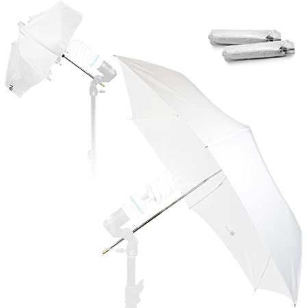 "2 x 33/"" Studio Translucent White Soft Umbrellas 84cm Photography Flash Lighting"