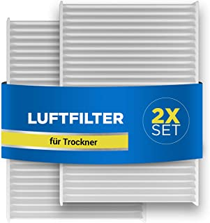 Lot de 2 filtres à air de rechange pour sèche-linge Bosch 00481723 481723 Siemens Neckermann Lloyds 140 x 95 x 17 mm