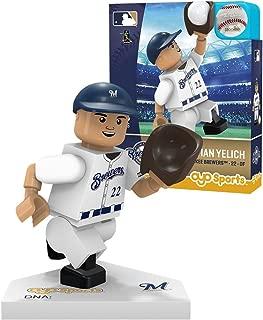 Oyo Sportstoys MLB Milwaukee Brewers Sports Fan Bobble Head Toy Figures, Navy Blue/tan, One Size
