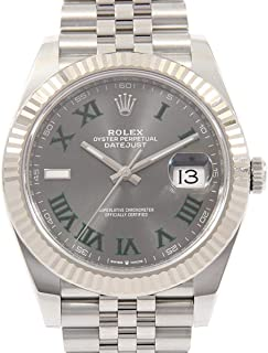 Datejust Mechanical (Automatic) Slate Gray Dial Mens Watch 126334 (Certified Pre-Owned)