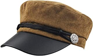 1b341657b69 eYourlife2012 Womens Corduroy Sailor Ship Yacht Boat Captain Hat Navy  Marines Admiral Cap Hat