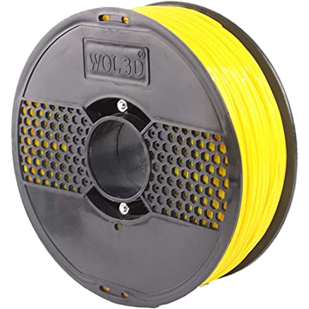 WOL 3D NEW PLA :Pro+ with Improved formula (BUMBLEBEE YELLOW) 3D Filament Made in India