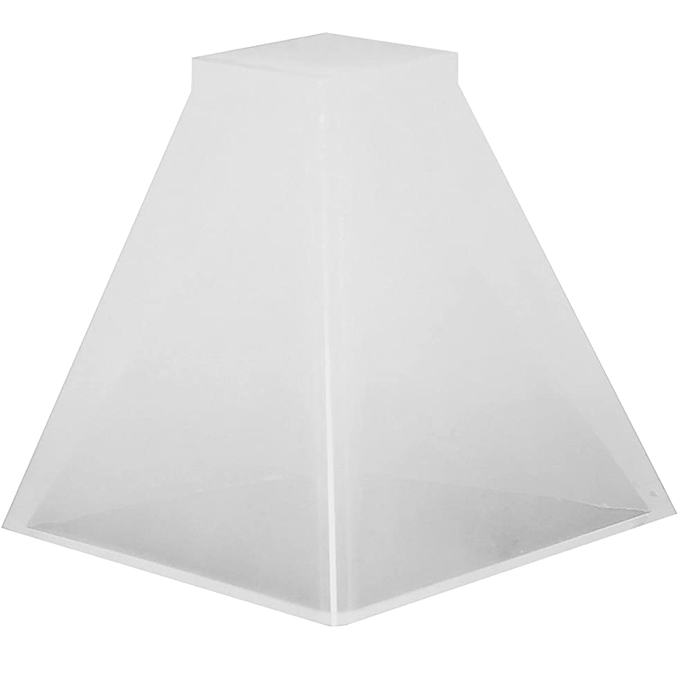 Funshowcase Pyramid Resin Epoxy Mold for Jewelry Making, Polymer Clay, Soap Making, Cabochon Gemstone Crafting Projects Large 2.4x2.4